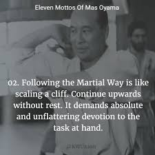 mas oyama mottos